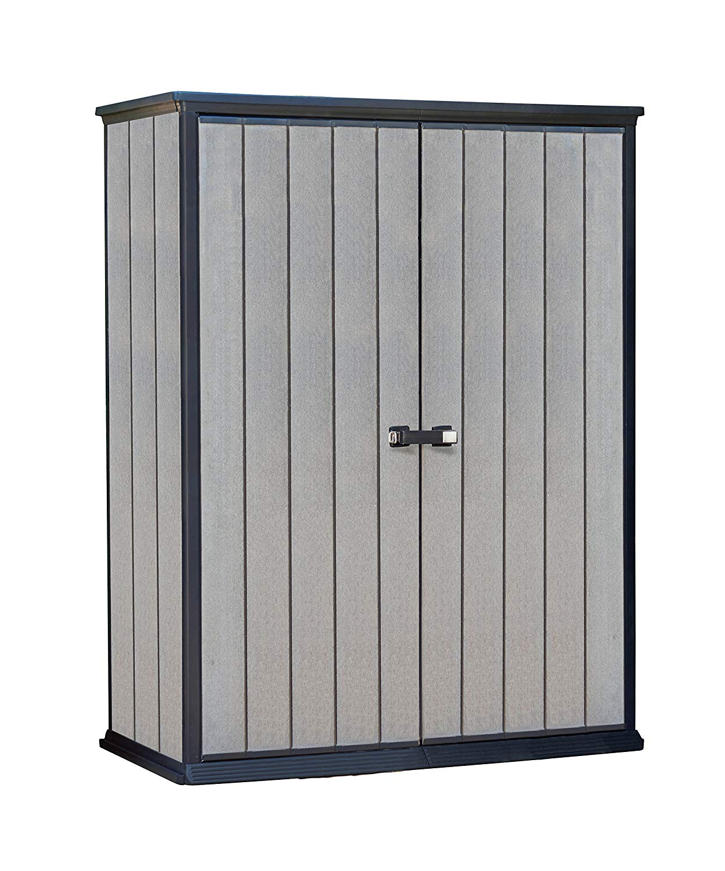 outdoor storage amazon.com : keter high store 4.5 x 2.5 vertical outdoor resin storage TGWUFSP