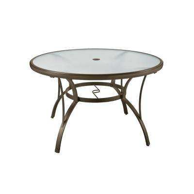 outdoor table commercial grade aluminum brown round outdoor dining table RCJILYK