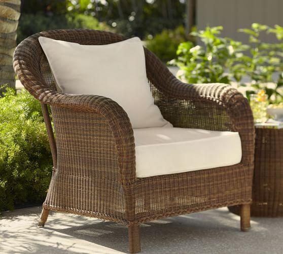 outdoor wicker furniture palmetto all-weather wicker armchair, honey GEWDTSS