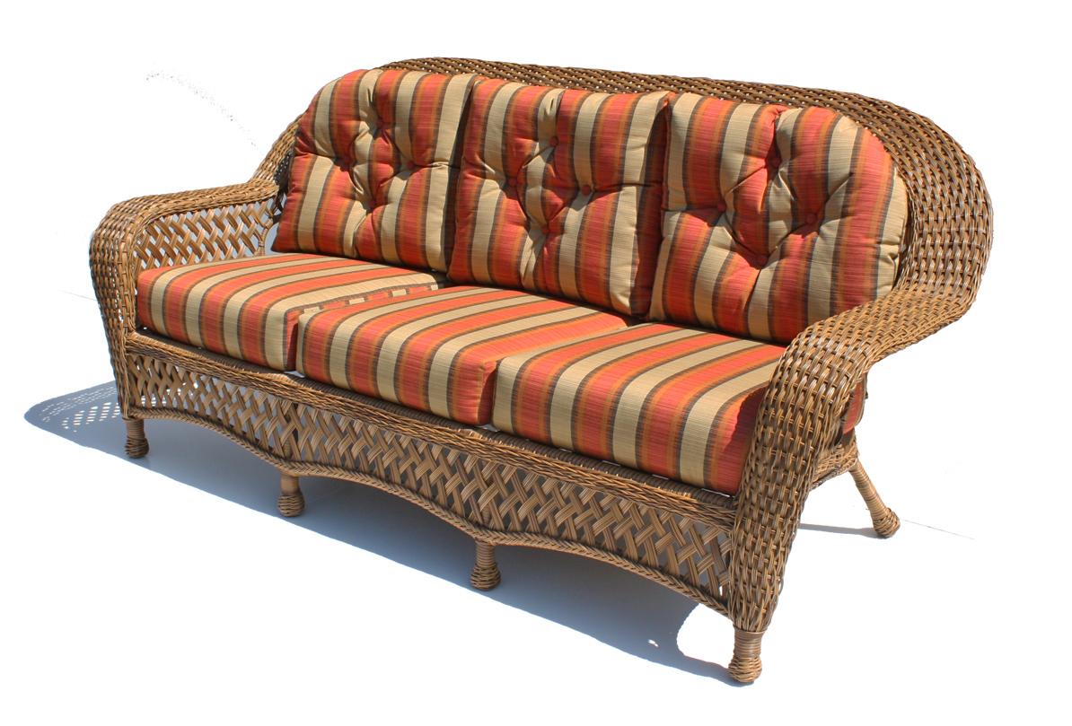 outdoor wicker sofa - montauk shown in natural EWXLKHW