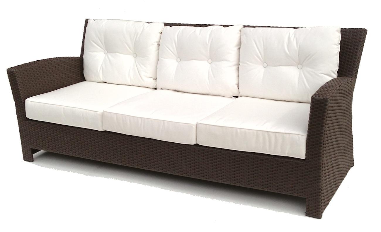 outdoor wicker sofa - sonoma YKHTPGT
