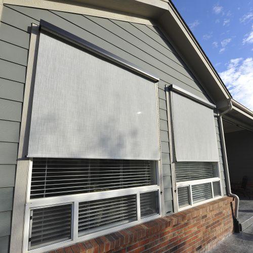 outdoor window shades horizontal exterior roll up shade AJUSUOW