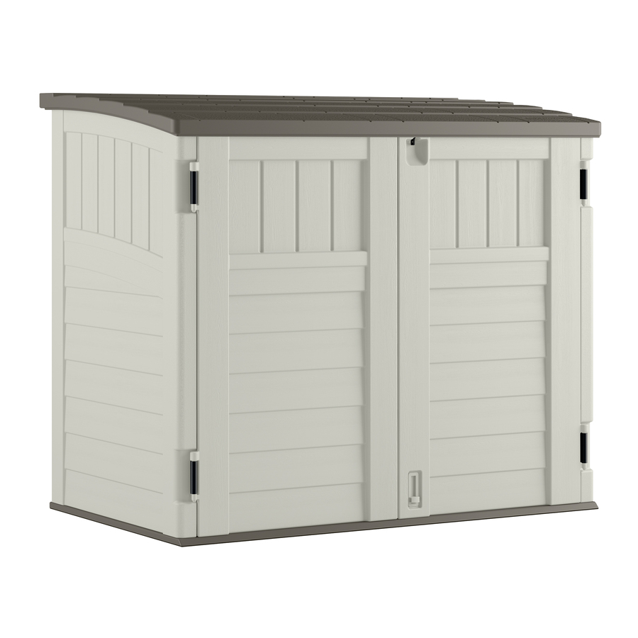 outside storage display product reviews for vanilla resin outdoor storage shed (common:  53-in JBOOXKI