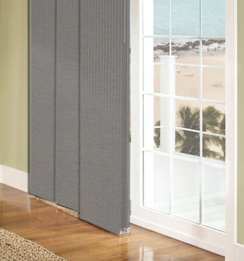 panel track blinds shown in toulon glace MVAHPIZ