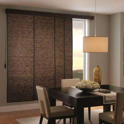 panel track blinds woven wood sliding panel CQSNBZL