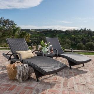 patio chaise lounge oliver u0026 james baishi 3-piece outdoor lounge set ECJGDJD