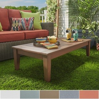 patio coffee table yasawa wood brown patio cushioned rectangular coffee table ottoman inspire  q SEXAEFU