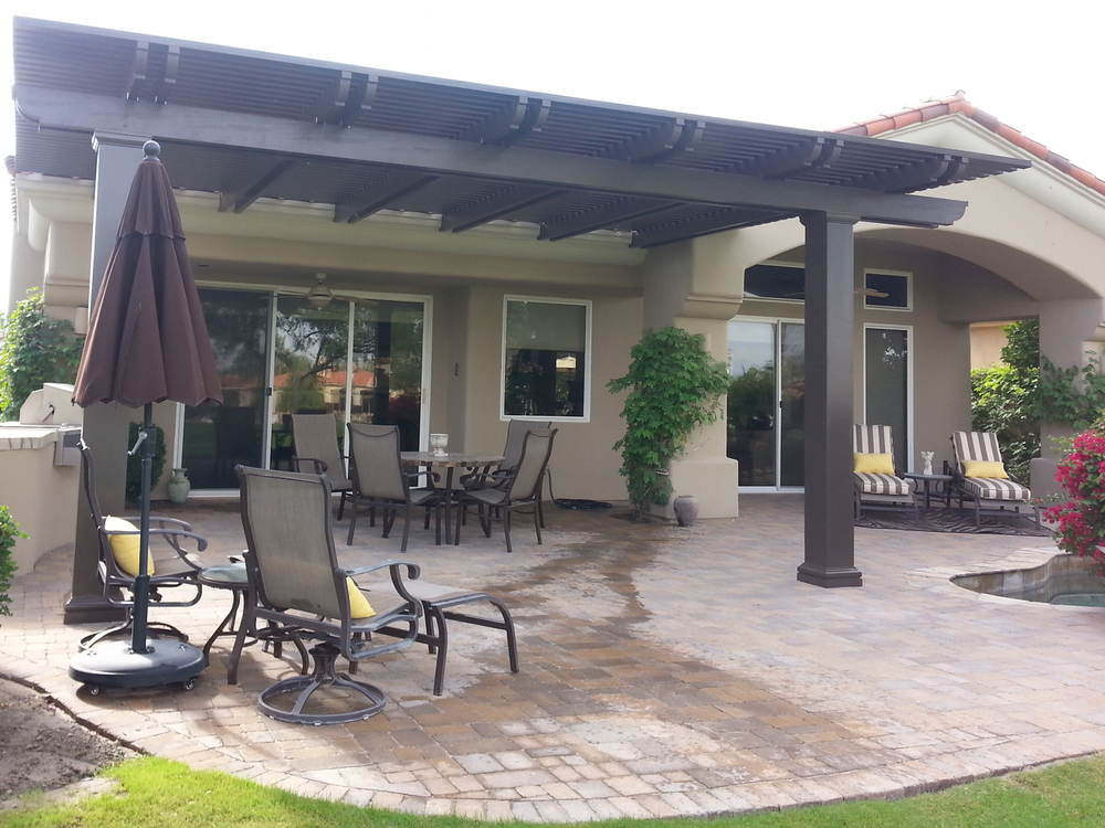 patio cover ideas solid patio cover, palm springs, ca QGDYISZ