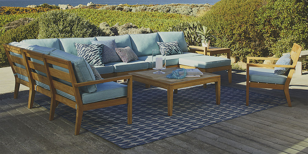 patio furniture save money on outdoor furniture sets | crate and barrel OKQXPRR