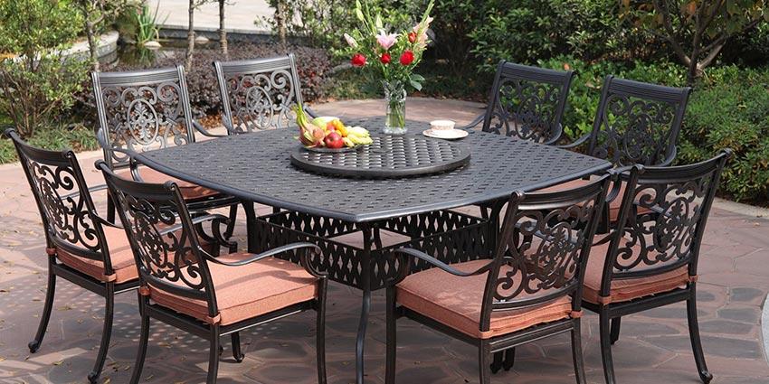 patio furniture sets cast aluminum patio furniture set HAXUVDN