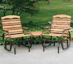 patio glider image is loading outdoor-patio-gliders-2-seat-double-wood-glider- OPVJMKD