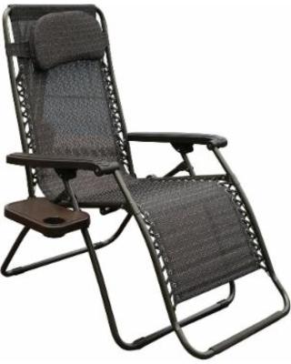 patio lounge chairs abba patio oversized zero gravity recliner patio lounge chair (dark brown), AWZMYGT