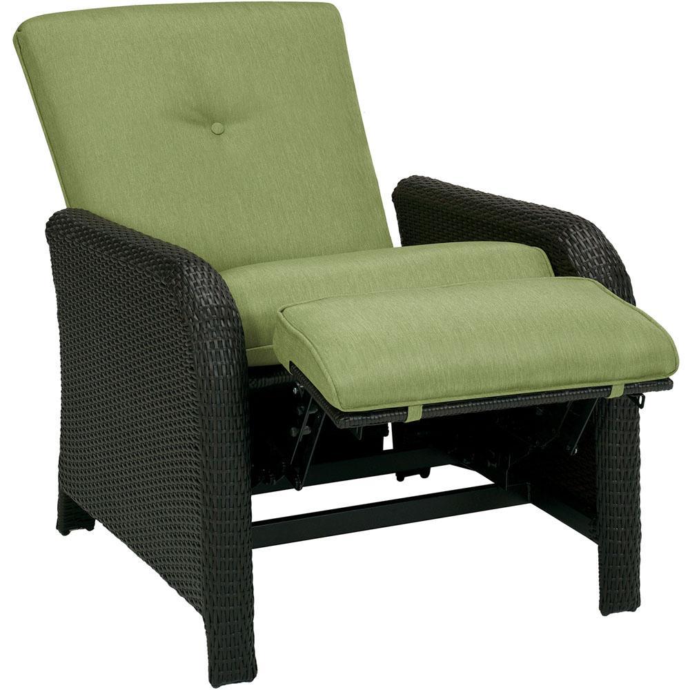 patio lounge chairs cambridge corolla 1-piece wicker outdoor reclinging patio lounge chair with  green LPFLEIZ