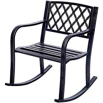patio rocking chairs costway patio metal rocking chair outdoor porch seat backyard glider rocker KYUZEOI