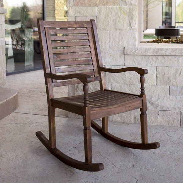 patio rocking chairs three posts zinnia solid acacia wood patio rocking chair u0026 reviews   GMGORXN