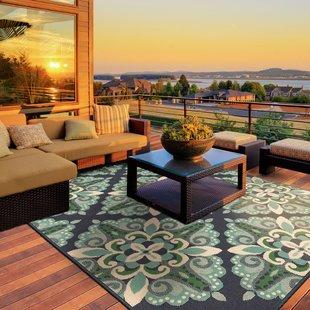 patio rug kailani contemporary blue/green indoor/outdoor area rug BYEJIVZ