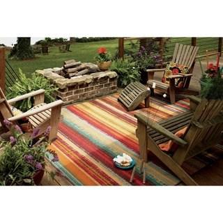 patio rugs indoor/outdoor metro stripe rug (8u0027 x ... FZMSQIG