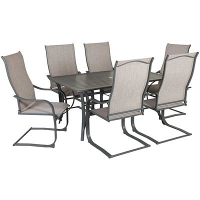patio sets lucca 7 piece patio dining set AQVIBNC