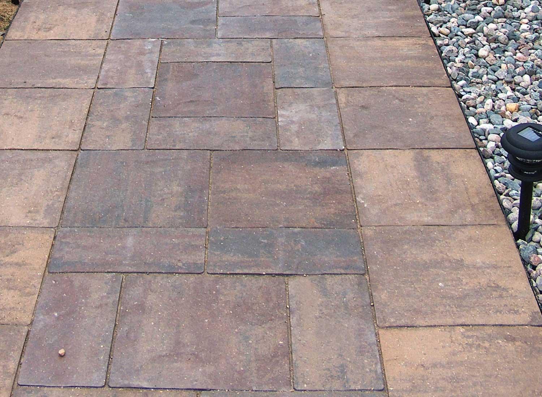 patio stones buff blend border UHQNXCP