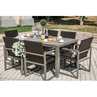 patio table and chairs 7 piece dining set TFYFQIY