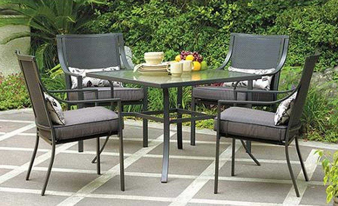 patio table and chairs amazon.com: gramercy home 5 piece patio dining table set: garden u0026 outdoor IDOFGQE
