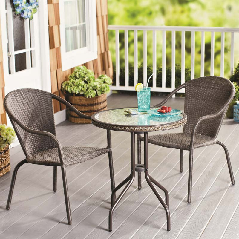 patio table and chairs nantucket wicker outdoor set IVYJEJV