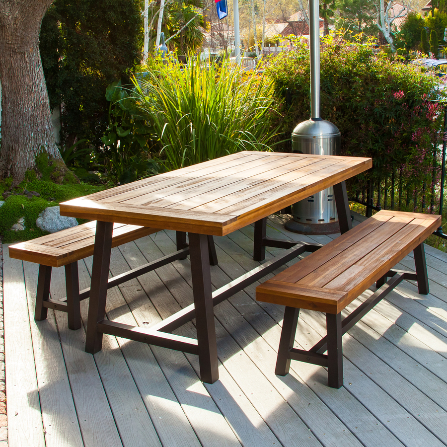 patio table sets display product reviews for carlisle 3-piece brown metal frame patio dining LWDEXDU