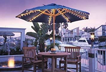 patio umbrella lights amazon.com : umbrella light set for most standard patio umbrellas white JVGHSPI