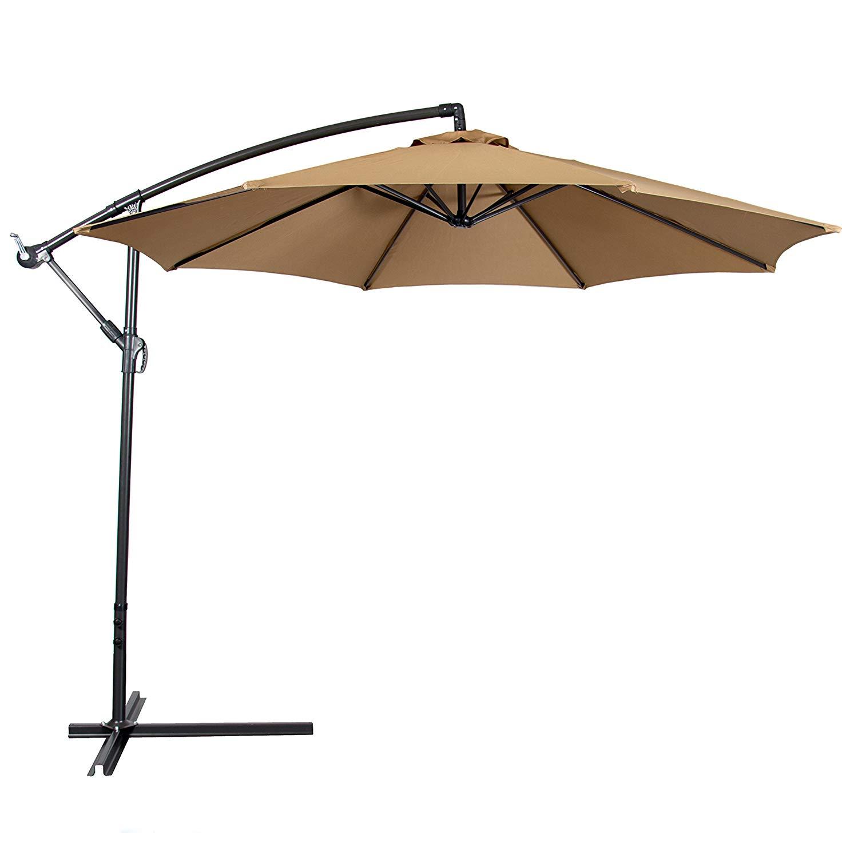 patio umbrellas amazon.com : best choice products patio umbrella offset 10u0027 hanging umbrella YWJFIHT