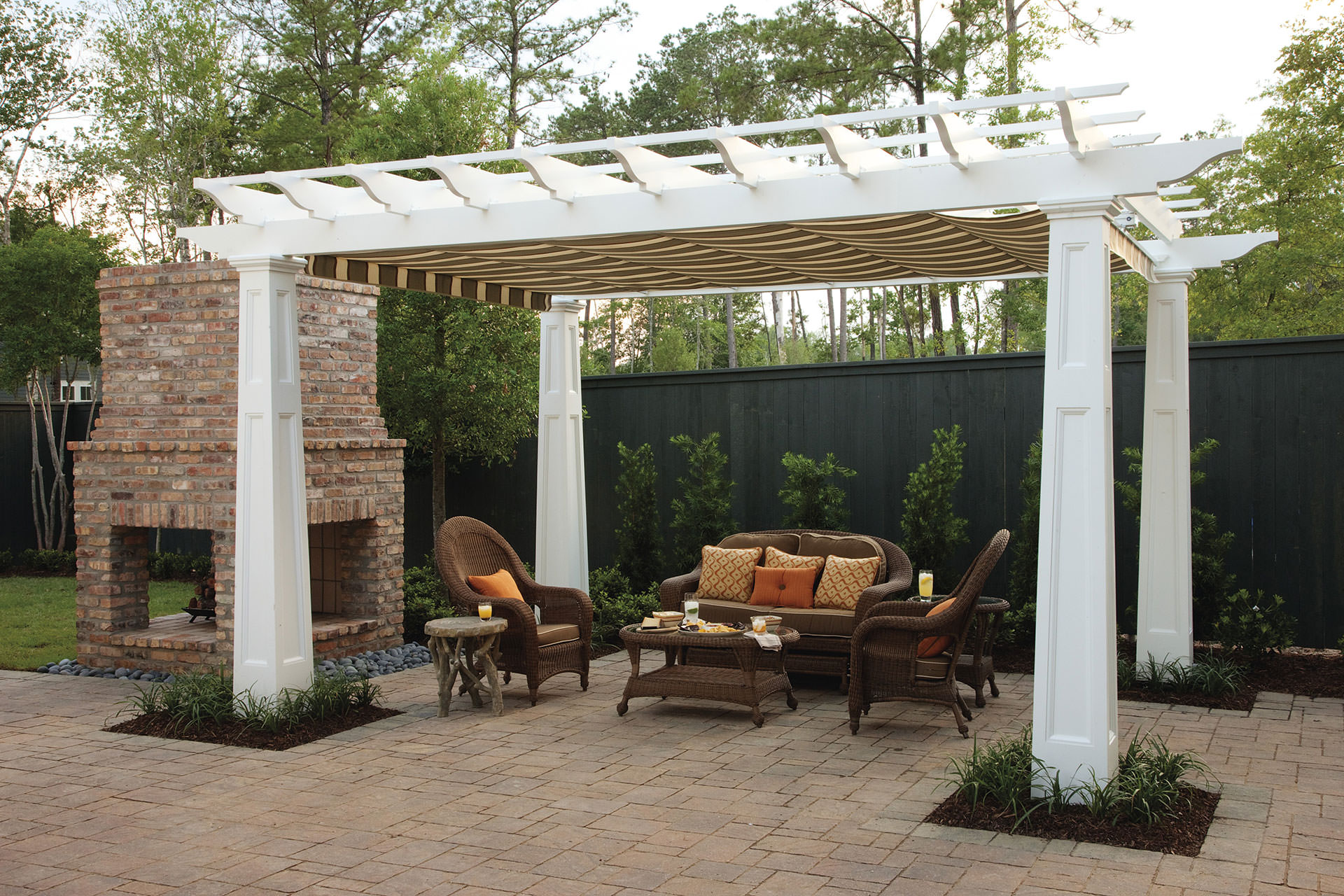 pergola canopy in southern living idea house   shadefx canopies BLSRHXX