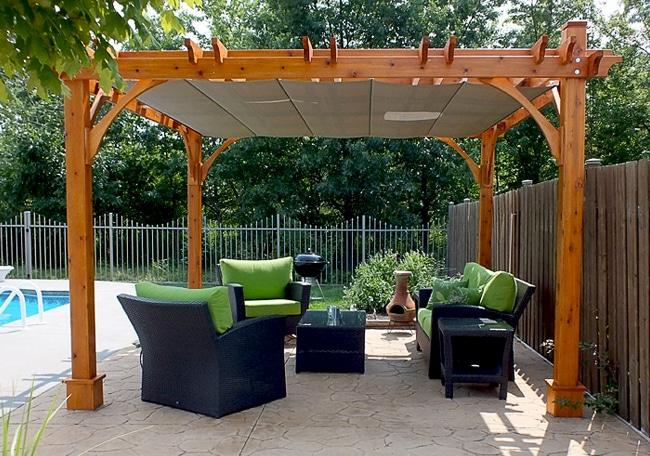 pergola canopy pergola - with retractable canopy 12 x 12 LLRTAHG