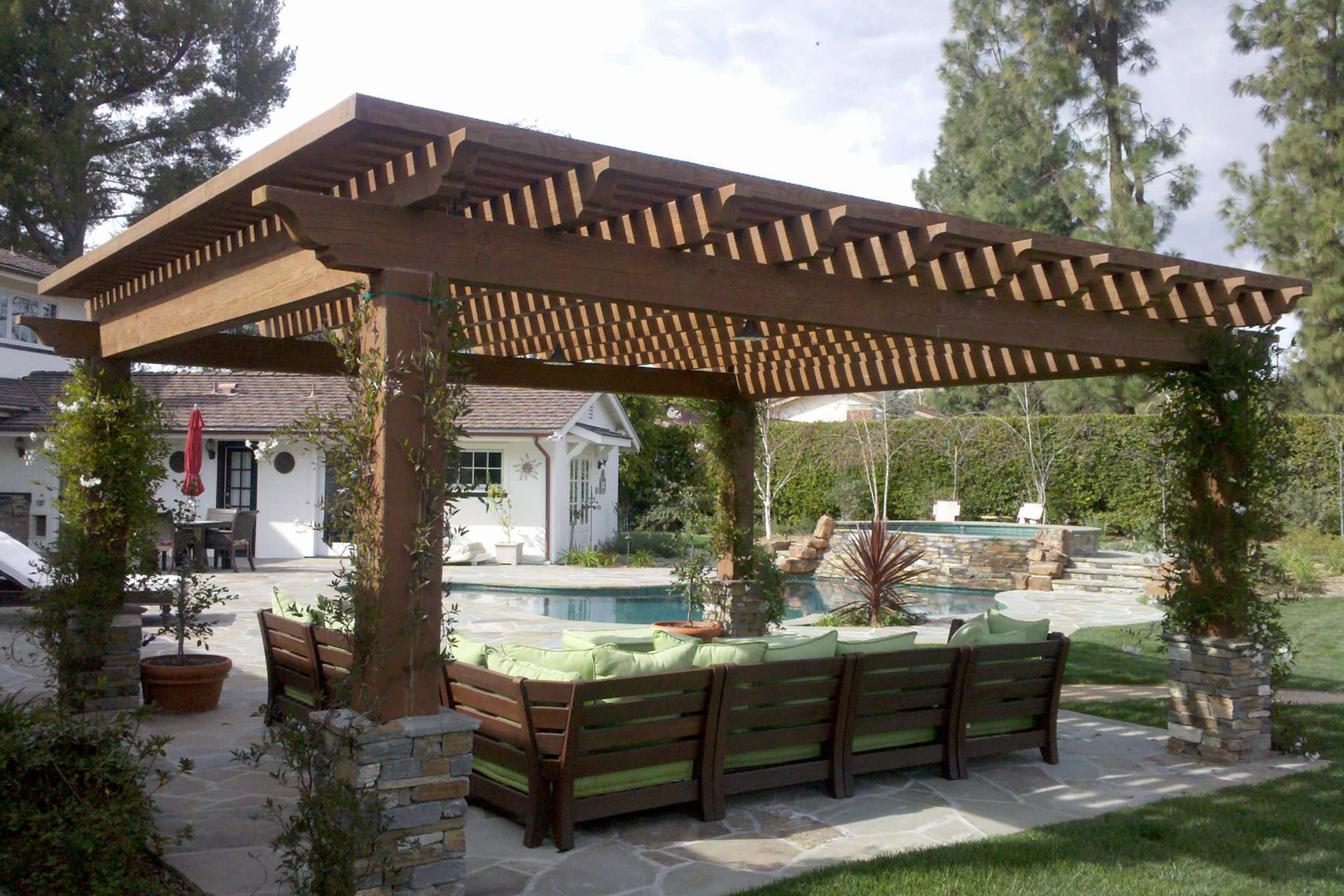 pergola covers pergola roof ideas: what you need to know   shadefx canopies KZKYSRB
