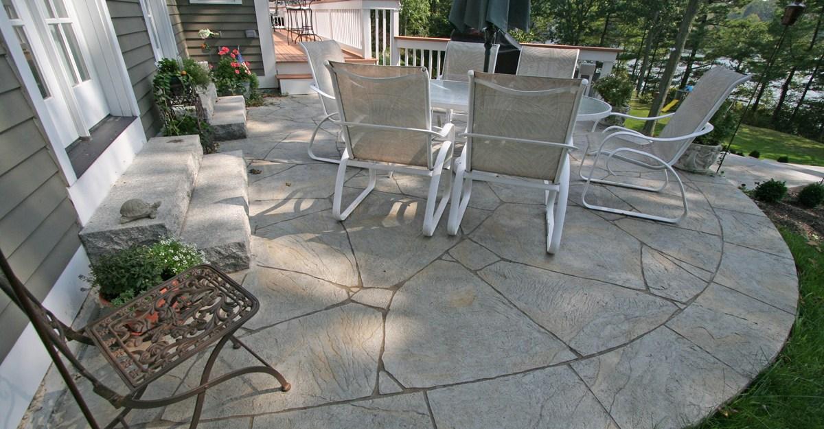photo of backyard cement patio ideas concrete patio photos design ideas and NBJCZHN