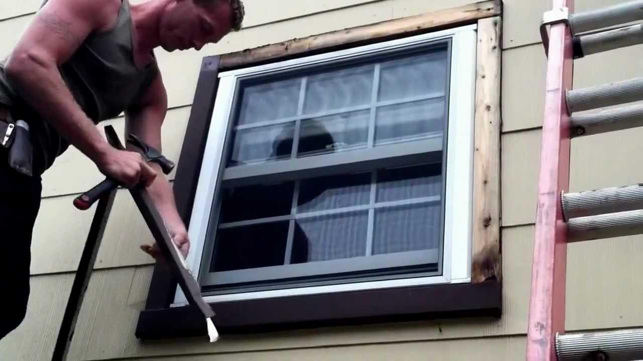 picture installing exterior window trim DKPTEQU