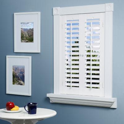 plantation shutter jcpenney home™ faux-wood plantation shutters - 2 panels SNXTFDQ