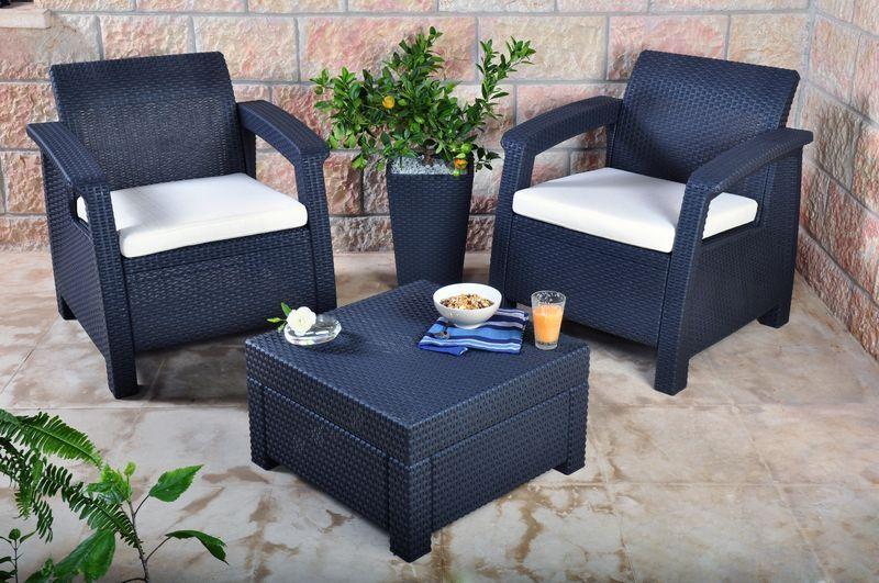 plastic garden furniture keter corfu 2 seater balcony set plastic rattan garden furniture c free DKRDRFV