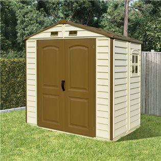 plastic garden shed billyoh daily pro apex plastic shed - vinyl clad double door plastic YAIZEZN