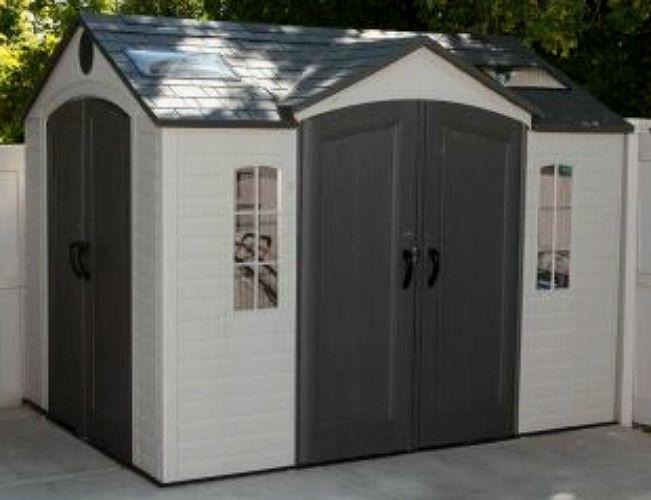 plastic garden shed garden sheds lifetime 10u0027x8u0027 storage outdoor plastic storage shed dual  enterance MKNXVOG