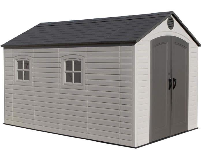 plastic garden shed lifetime 8x12 outdoor storage shed kit w/ floor EFJTMBS