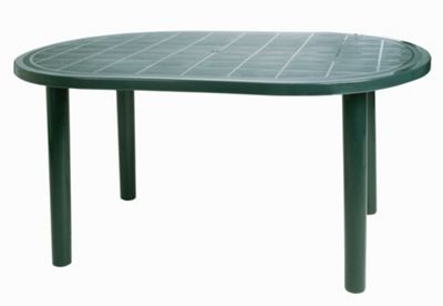 plastic garden table resol gala outdoor oval garden table - green plastic - 140 x JQQRWUP