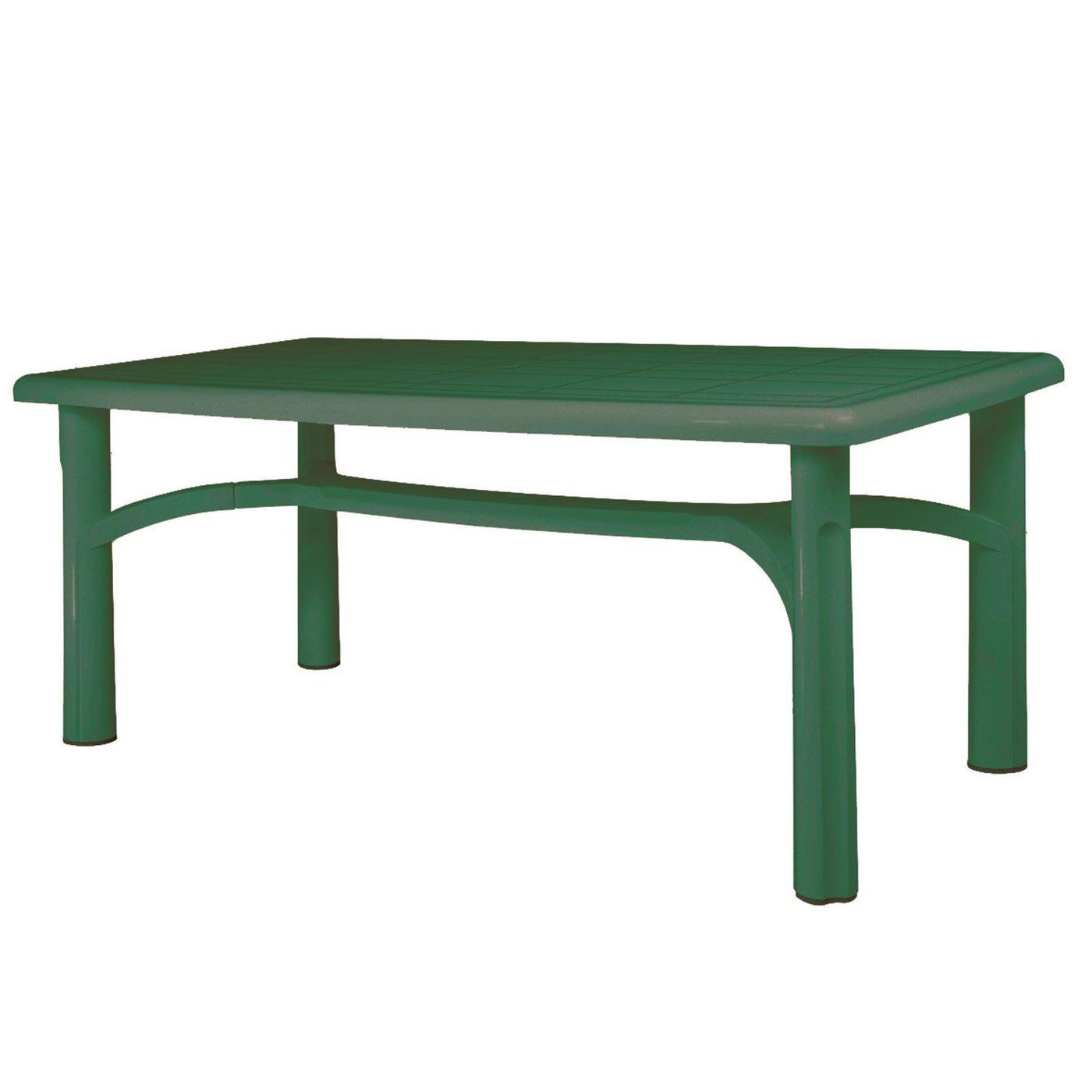 plastic garden table resol vals 180 x 90cm rectangular plastic garden dining table - green UDTMUGR