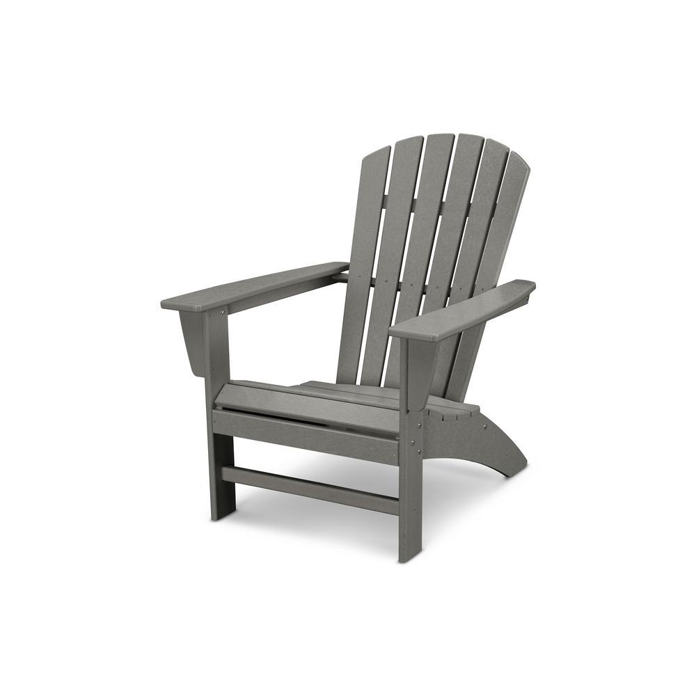 plastic outdoor chairs polywood traditional curveback slate grey plastic outdoor patio adirondack  chair UTBEIYW