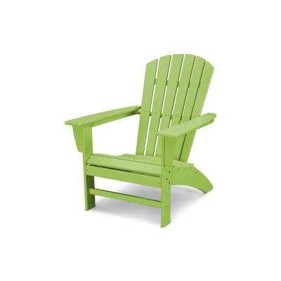 plastic patio furniture traditional curveback lime plastic outdoor patio adirondack chair LYCDCPB