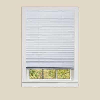 pleated shades 1-2-3 white vinyl room darkening window pleated shade ... CFRCIWR