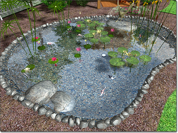 pond design landscape design software - adding a pond PRYOWWC