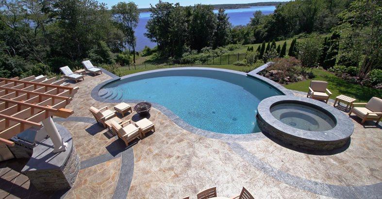 pool deck concrete pool decks new england hardscapes inc acton, ma LMELWSG