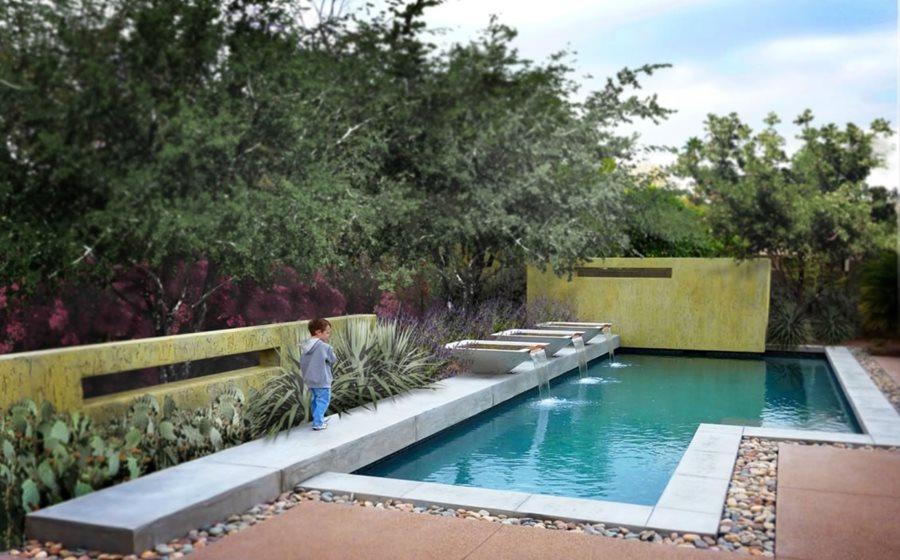 pool designs geometric pool design swimming pool bianchi design scottsdale, az YFEVBNW