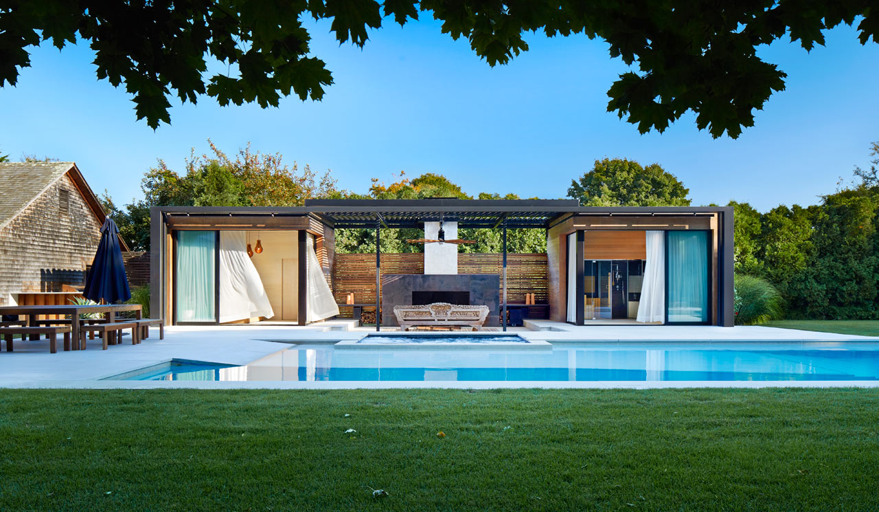 pool house designs a modern pool house retreat from icrave ... SZBALMA