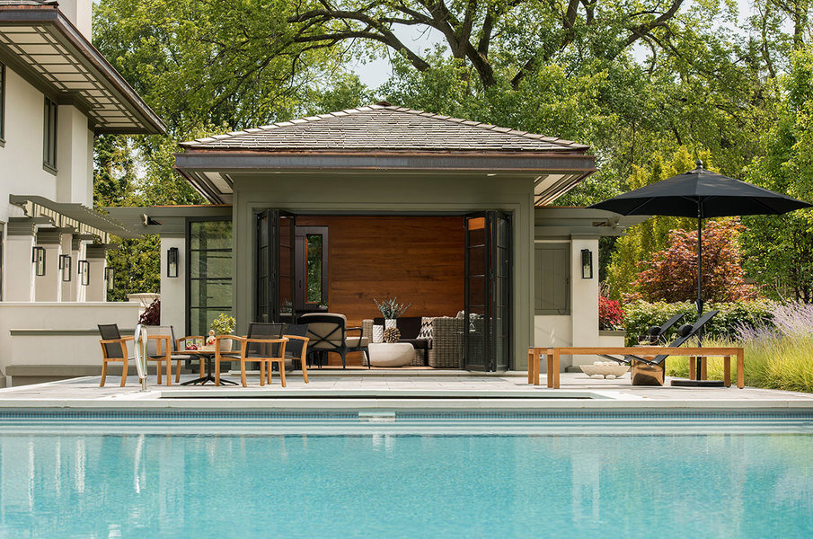 pool house designs how to design a pool house - mansion global KRLANHJ