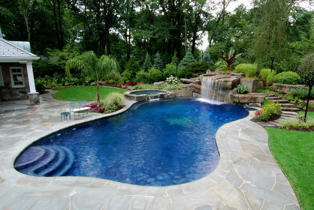 pool landscaping allendale nj - tropical inground swimming pool landscape nj tropical-pool OBPNMGU